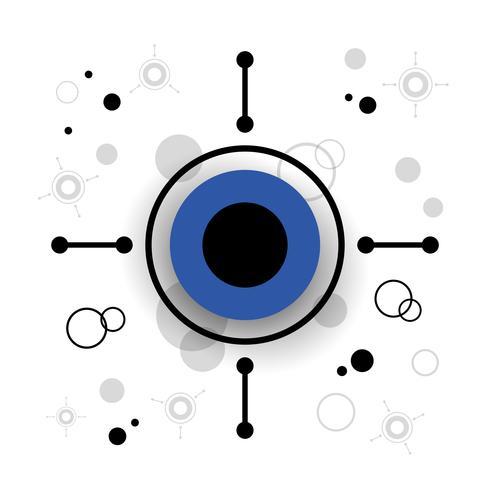 fondo moderno del círculo