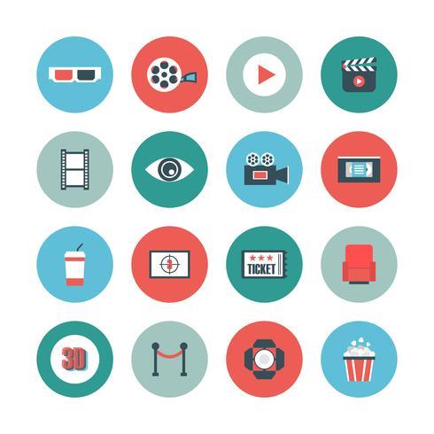cinema flat icon vector