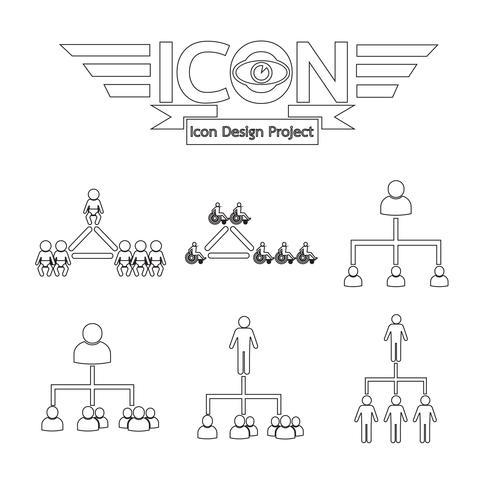 ícone de rede de pessoas