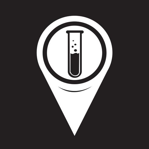 Map Pointer Lab Tube Icon vector