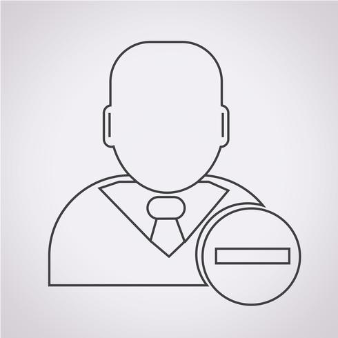 Segno di simbolo dell'icona dell'uomo d'affari