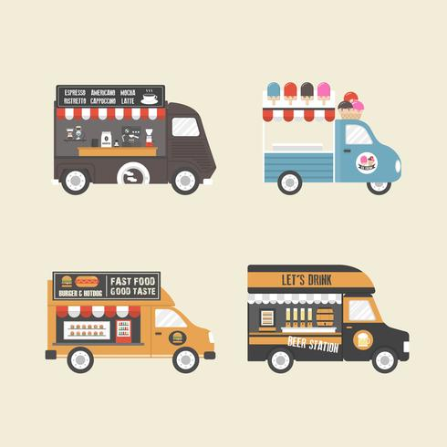 retro food truck vector