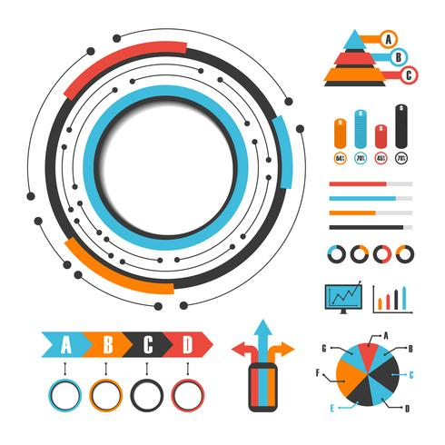 moderne Grafik Infographik