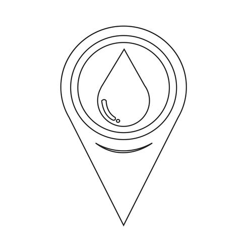 Icona di goccia d'acqua puntatore mappa