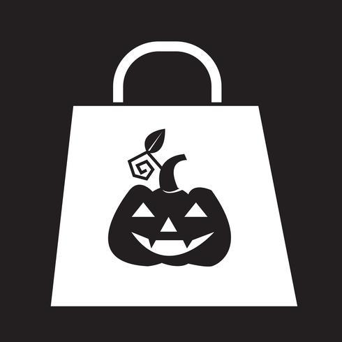 Icono de bolsa de halloween