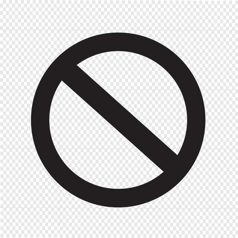 divieto in bianco Icona simbolo