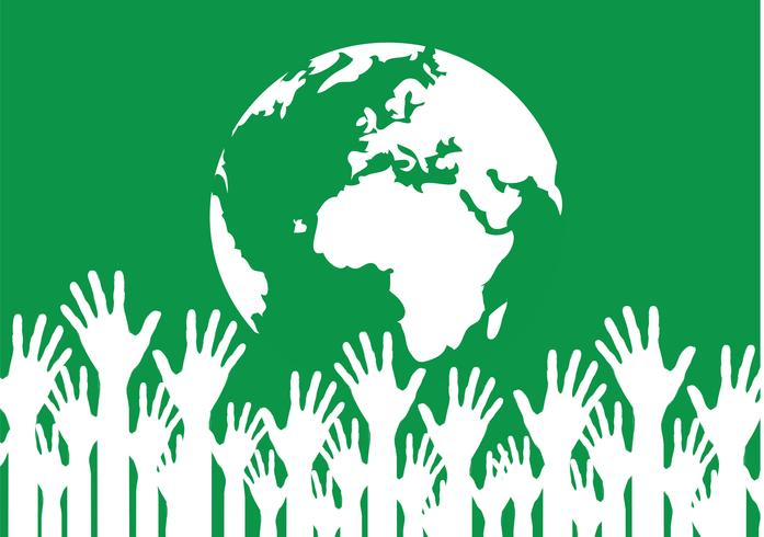 Hand Holding World and globe hands idea vector