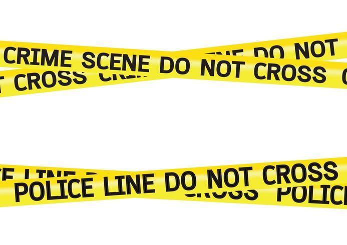 Crime scene gevaar tapes illustratie