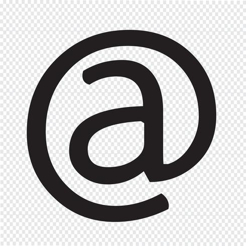 icono de símbolo de correo electrónico vector