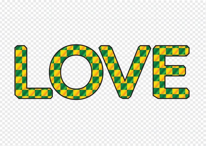 LOVE Font Type para cartão de dia dos namorados