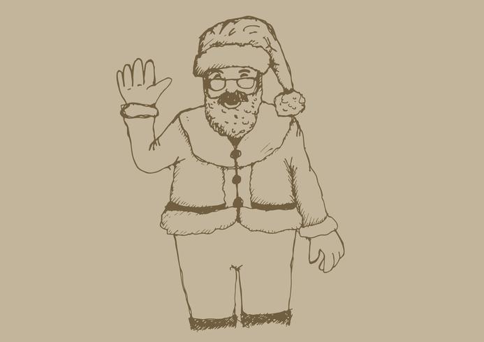 Dibujado a mano de santa claus para navidad