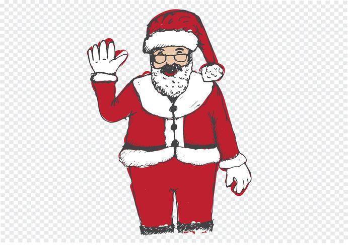 Santa Claus för jul handritad
