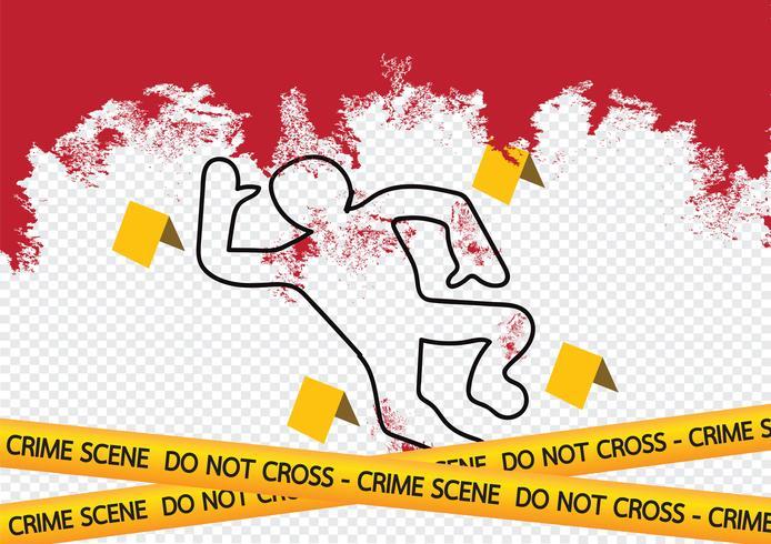 Ilustração de fitas de perigo de cena de crime