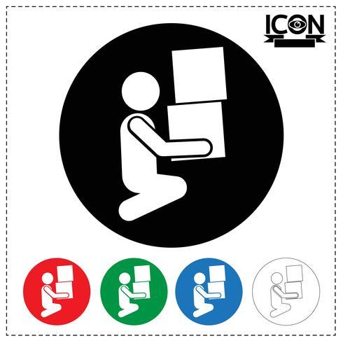 Icono de caja móvil de hombre