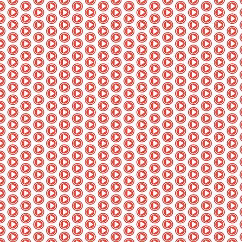 Fondo del patrón Botón de icono de reproducción vector