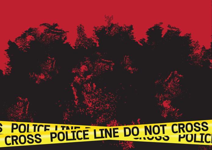 Escena del crimen peligro cintas ilustración