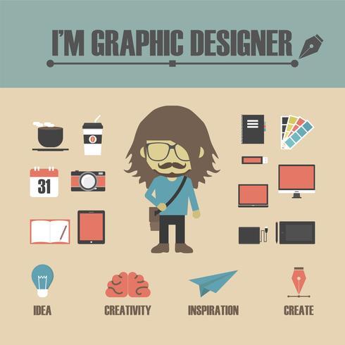 gadget diseñador gráfico vector