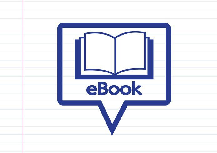Conjunto de iconos de lector de libros electrónicos y lector de libros electrónicos