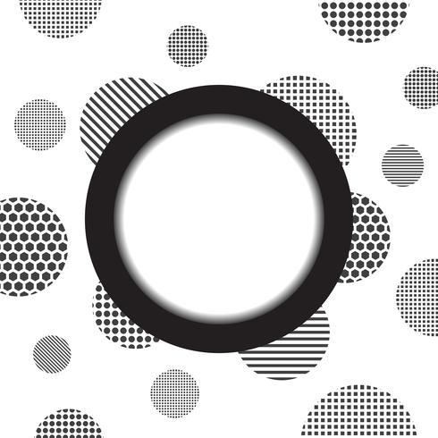 círculo e fundo dotty