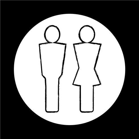 homem e mulher ícone de pessoas