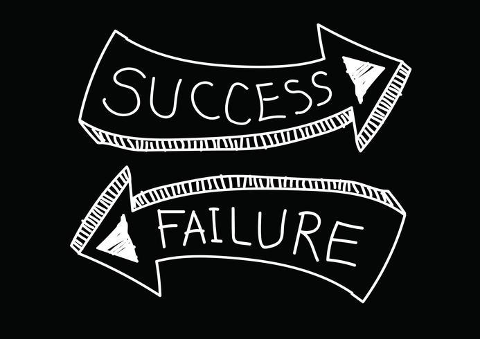 Framgång och misslyckande tecken symbol vektor