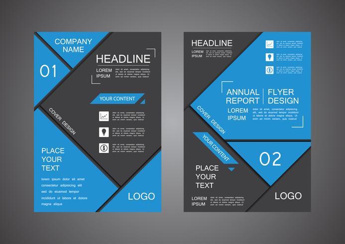 informe anual de diseño de cubierta de triángulo vector