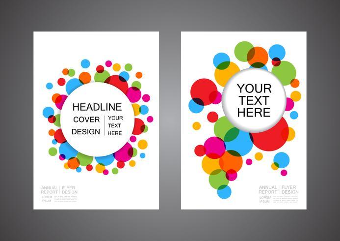 flyer de círculo abstrato colorido