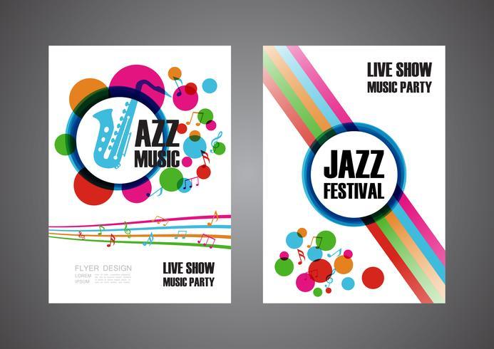 cartel colorido festival de música vector