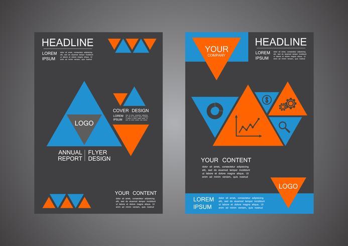 design de capa de triângulo moderno