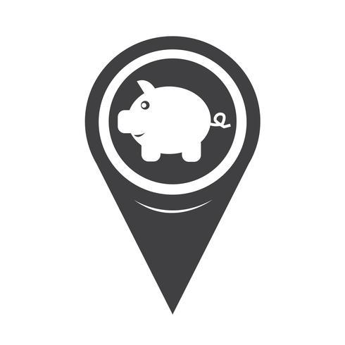 Mapear o ícone do banco Piggy do ponteiro