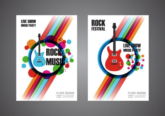 cartaz colorido do festival de música