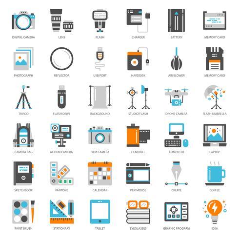 Fotógrafo y gadget de diseño. vector