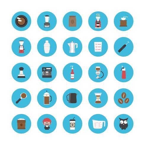 conjunto de ícones de café vetor