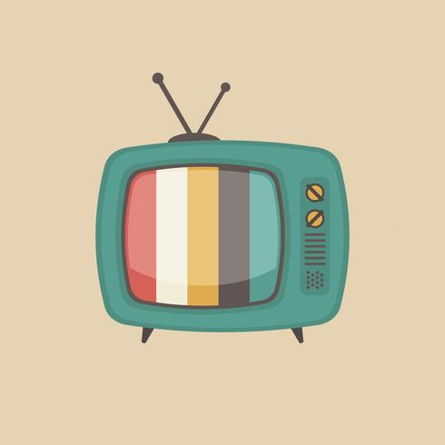 old style television vector