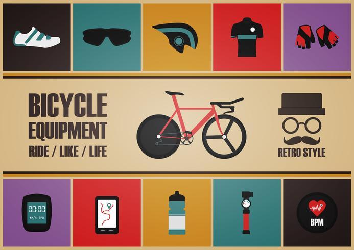 retro cykelutrustning