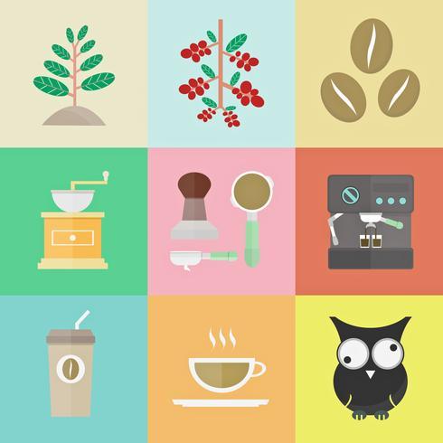 retro coffee icon vector