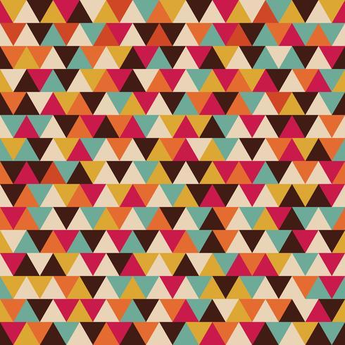 retro driehoek naadloos patroon