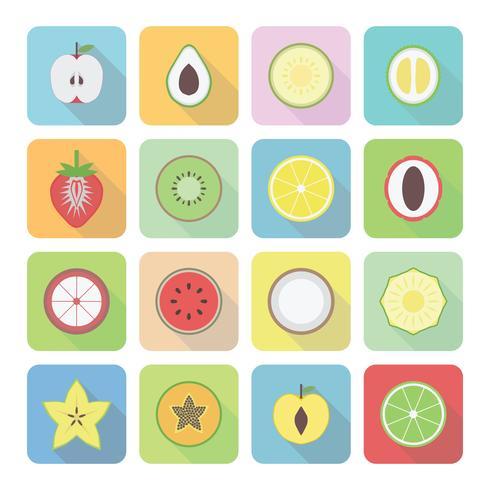 icona di frutta con ombra vettore