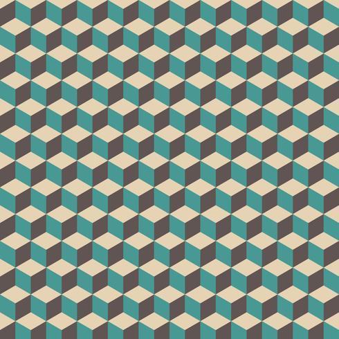 retro kub mönster vektor