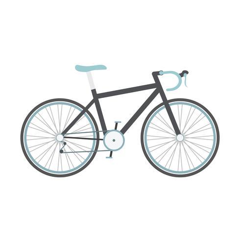 vélo de route noir vecteur