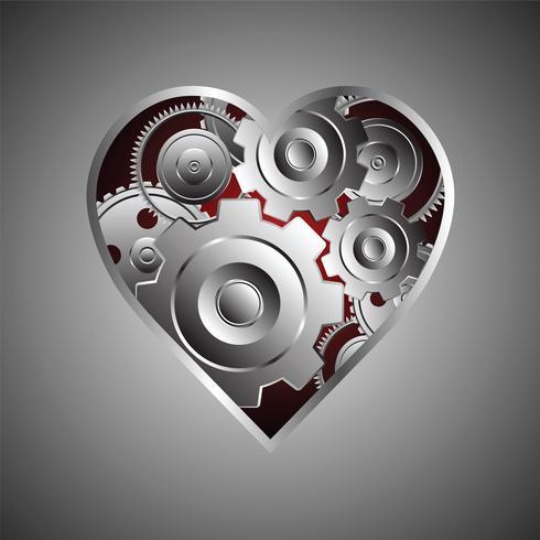 cuore di metallo sullo sfondo - Scarica Immagini Vettoriali Gratis ...