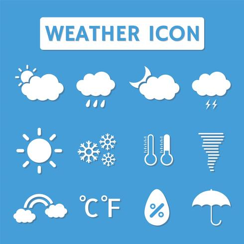 weather icon with shadow vector