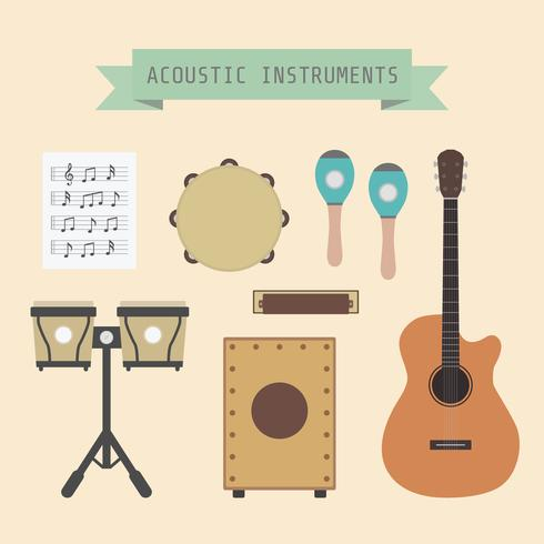 acoustic music instrument vector