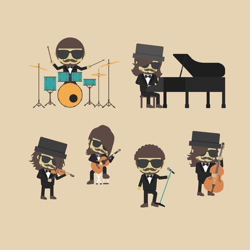 desenchufe la banda de música vector