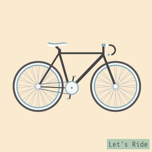 vélo de route rétro vecteur