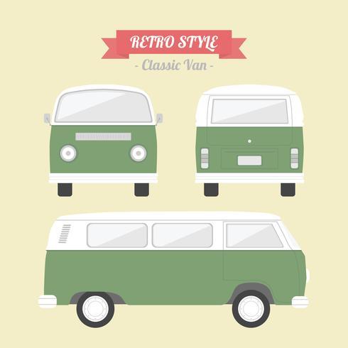 retro klassisk skåpbil