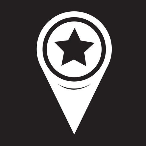 Icona della stella del puntatore della mappa