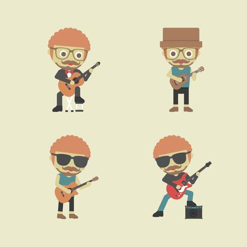 street guitarist, music show on street