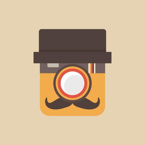 beard camera app vector