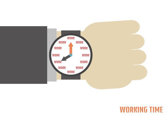 menselijke hand met horloge